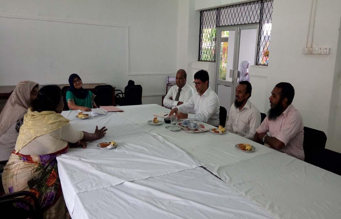 Discussion about the School Development of Al Iqbal Maha Vidyalaya, Colombo-02 on 30th November 2016 with the School Development Group