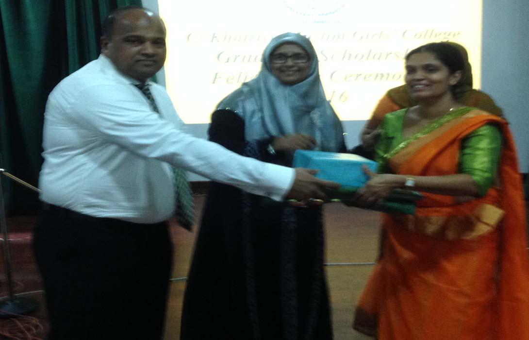 The Felicitation Ceremony of Grade 5 Scholarship Winners held on 3rd November 2016 at Khairiya Muslim Girls College