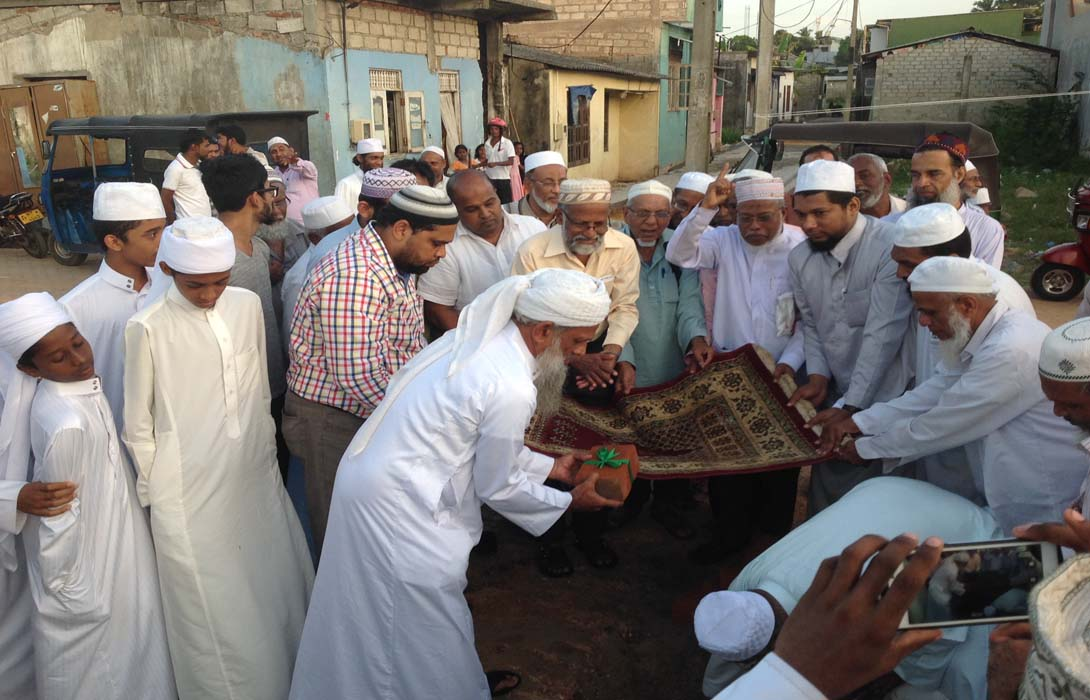 Mohamed Akram invited as one of the Guest of Honour for Madrasathuldarul Uloom Al Azhariyah Campus, Polwatta, Wellampitiya Stone Laying Ceremony on 6th August 2016 at Polwatta, Wellampitiya